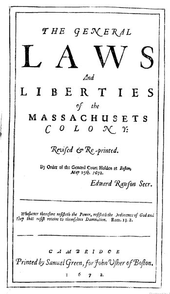a description of dating back to the founding of the massachusetts bay colony The charter of massachusetts bay represents still another way in which self-government was  because the charter became the constitution of the colony.