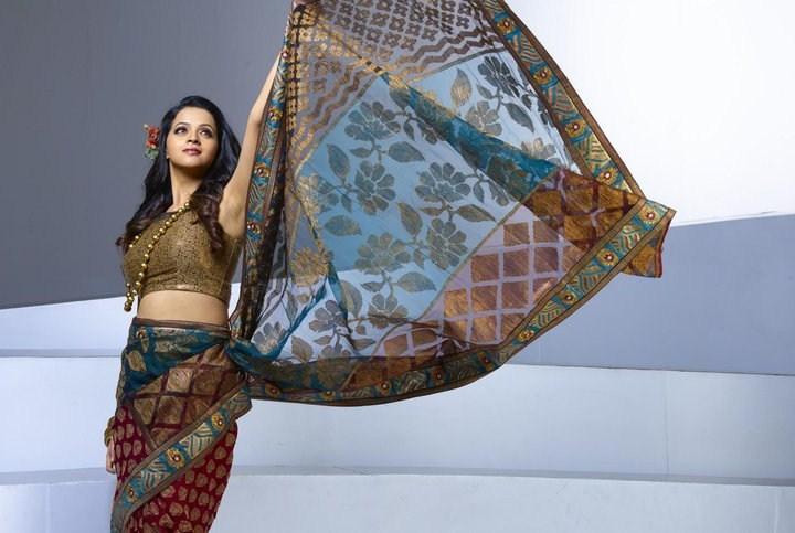 Actress Bhavana Latest Pics in Saree