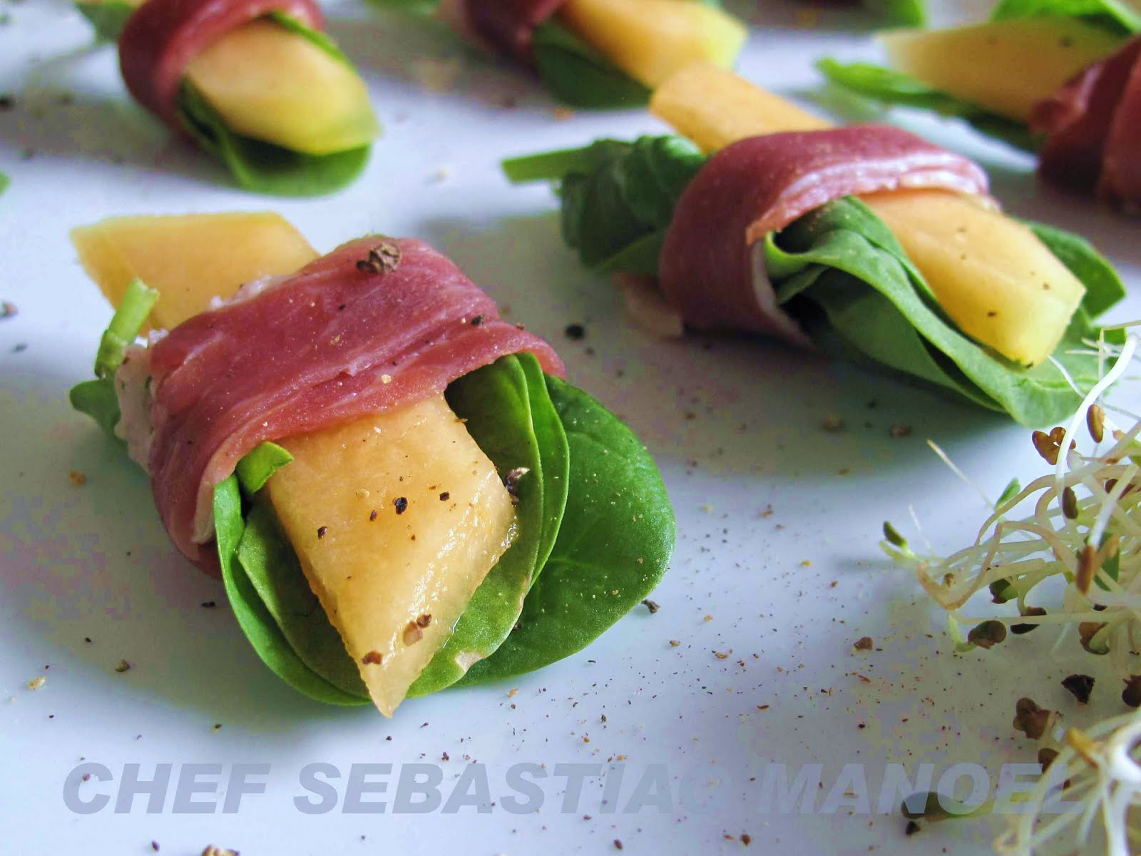 wrapped melon with prosciutto wrapped melon typical cantaloupe wrapped ...