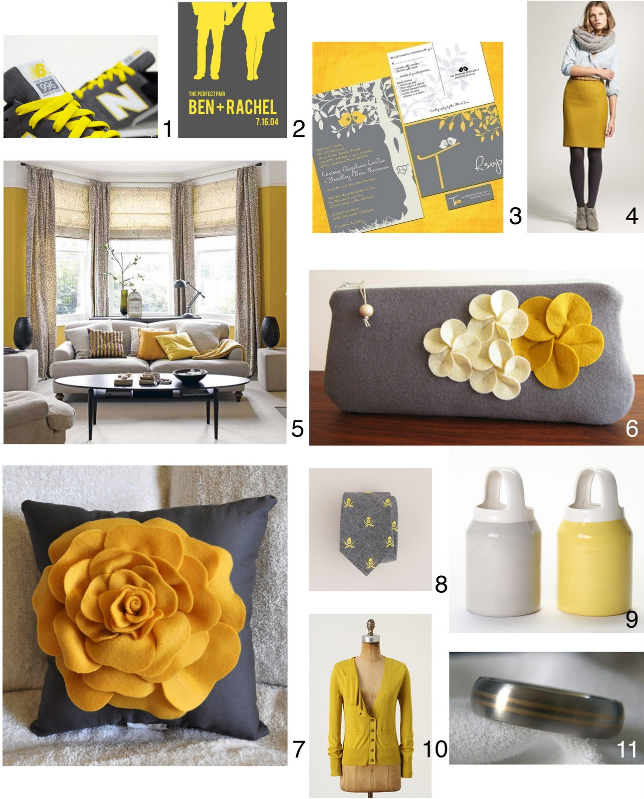 Inspired by ladibug32 january 2011 for Yellow and grey room