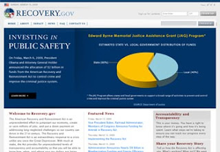 home page of Recovery.gov