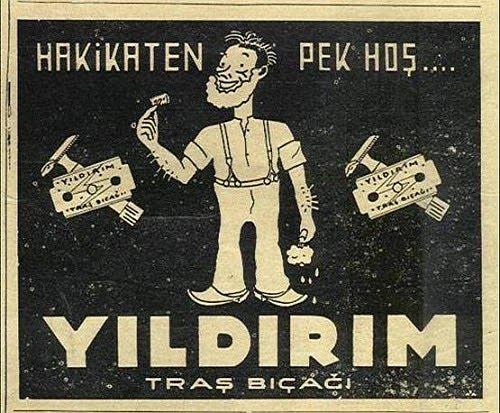 Eski reklamlar: Yıldırım Traş Bıçağı