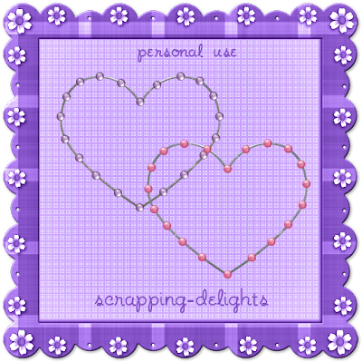 http://scrapping-delights.blogspot.com/2009/08/beaded-wire-heart-frames-freebie.html