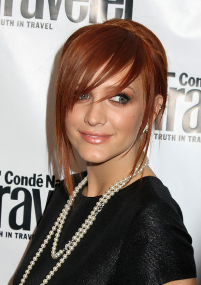 red hair blonde highlights.