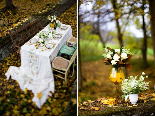 Sweet Vintage Inspired Outdoor Tablescapes