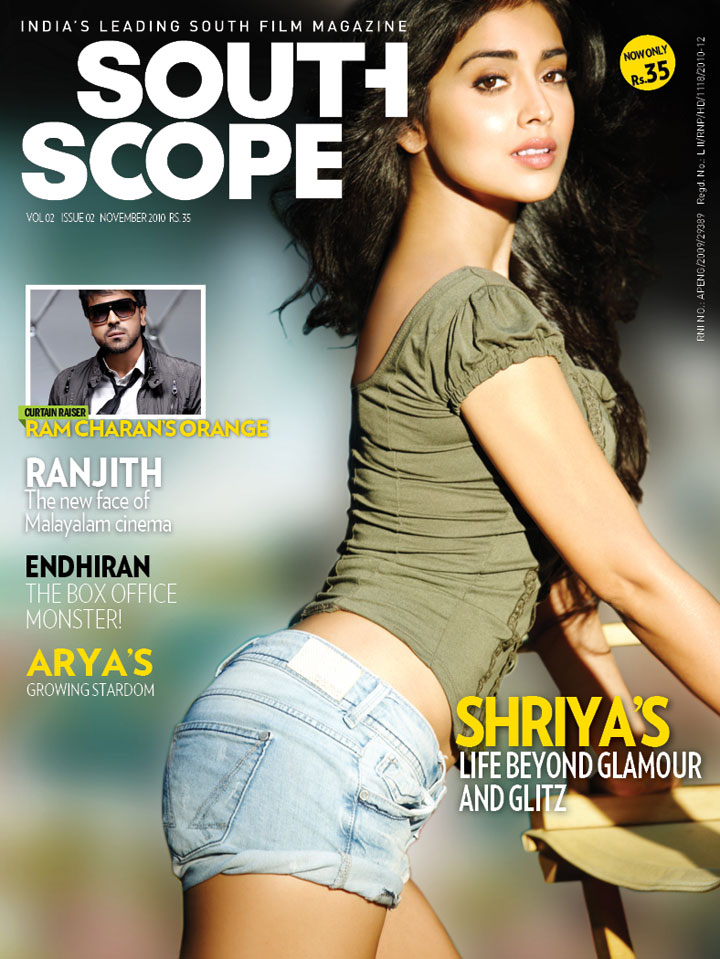 Hot Shriya Saran posing in South Scope cover page