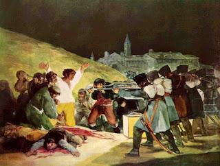 'Los fusilamientos del 3 de mayo en la montaña del Príncipe Pío'