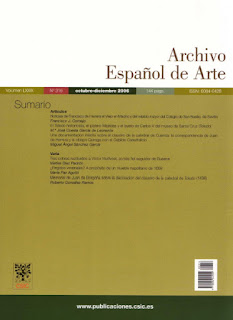 Portada del nº 316 de Archivo Español de Arte (CSIC)