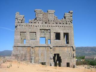 Torre romana de Centum Cellas, en Belmonte (Castelo Branco, Portugal)