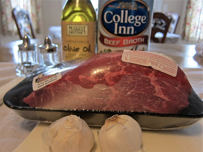 start out with a roasting meat of your choice you can use chuck top ...