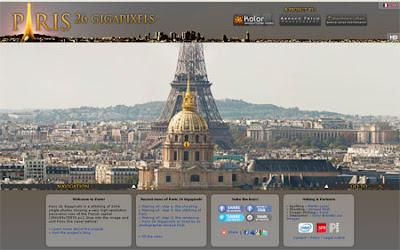 Interaktivní prohlídka Paříže v nejvyšším rozlišení #Webaplikace