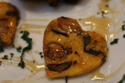 Love Birds with Wild Mushroom Polenta Hearts – Let Me Eat Cake