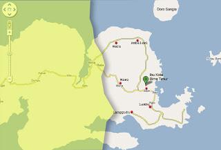 Peta Kabupaten Bima Timur