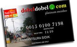 Dapatkan diskon gede dengan memiliki member card dobeldobel.com