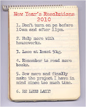my resolutions