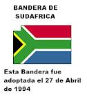 NUEVA BANDERA de SUDÁFRICA