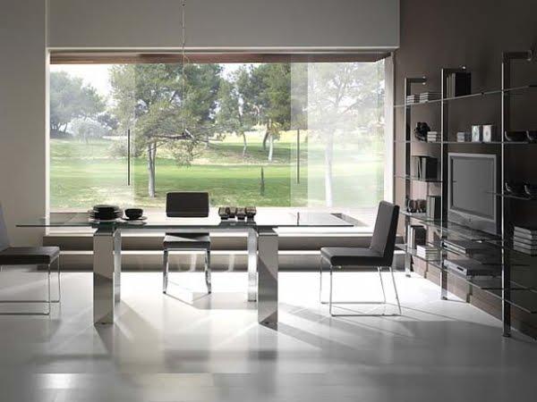 Mesas de comedor para el sal n - Comedores modernos en vidrio ...