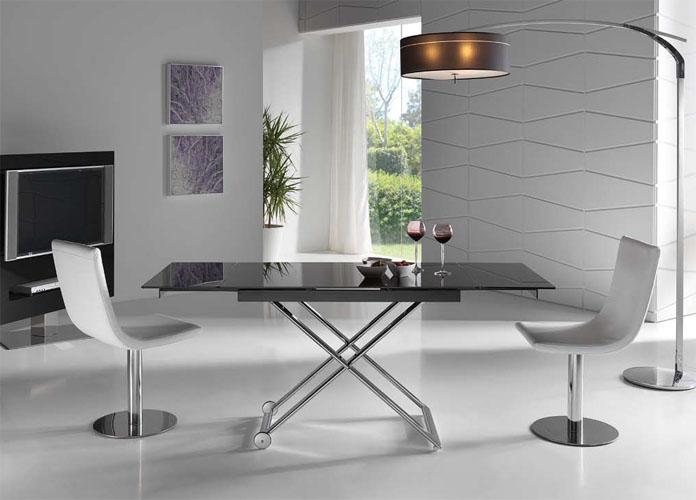 Mesas de centro elevables y extensibles a mesas de comedor for Centros de mesa de comedor