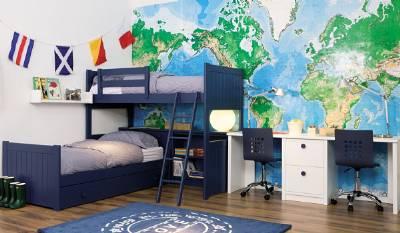 Camas dobles y triples para dormitorios juveniles e infantiles for Habitaciones juveniles dobles