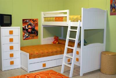 Camas dobles y triples para dormitorios juveniles e infantiles - Habitaciones infantiles tren ...
