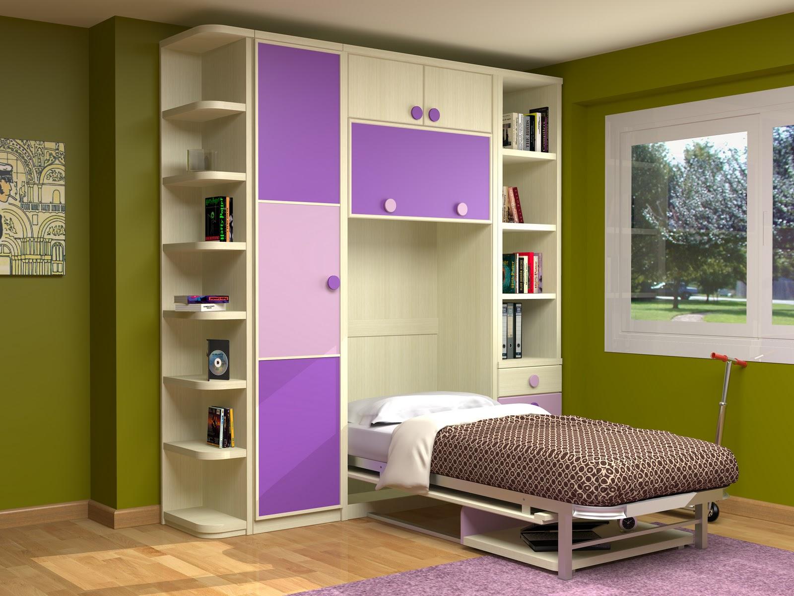 Cama abatible vertical con escritorio incorporado - Cama abatible escritorio ...