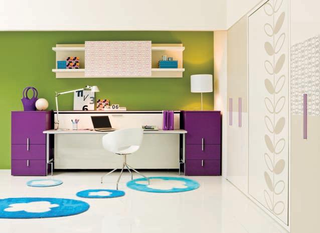 Dormitorios juveniles habitaciones infantiles y mueble for Camas juveniles con escritorio incorporado