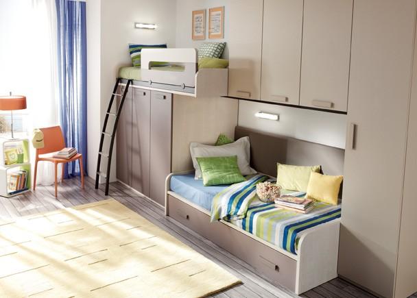 Dormitorios infantiles y juveniles para ni as ni os y - Dormitorios infantiles dos camas ...