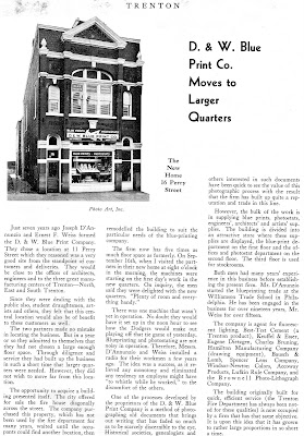 Tom glovers hamilton library scrapbook local history with a 60 generation remember dw when they were located on perry street in trenton how the company grew they evolved into the triangle blueprint company malvernweather Gallery