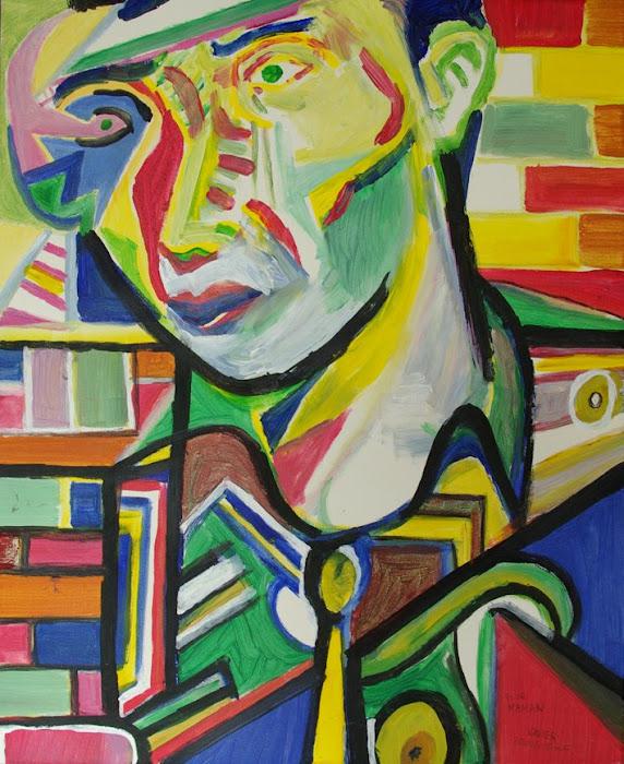 Portrait en briques