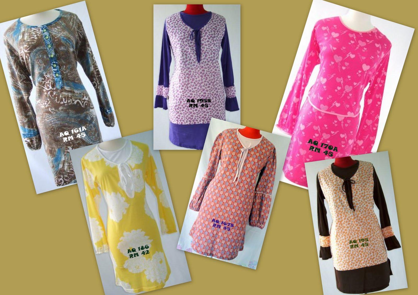 Stock untuk nursing blouse aqeela muslimah wear