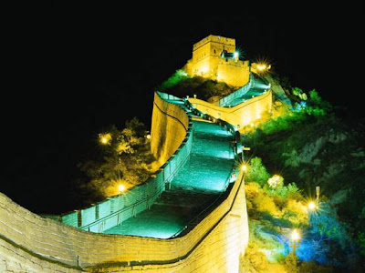 The Great Wall of China at Night Picture