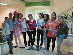 תלמידים בבית חולים תל השומר