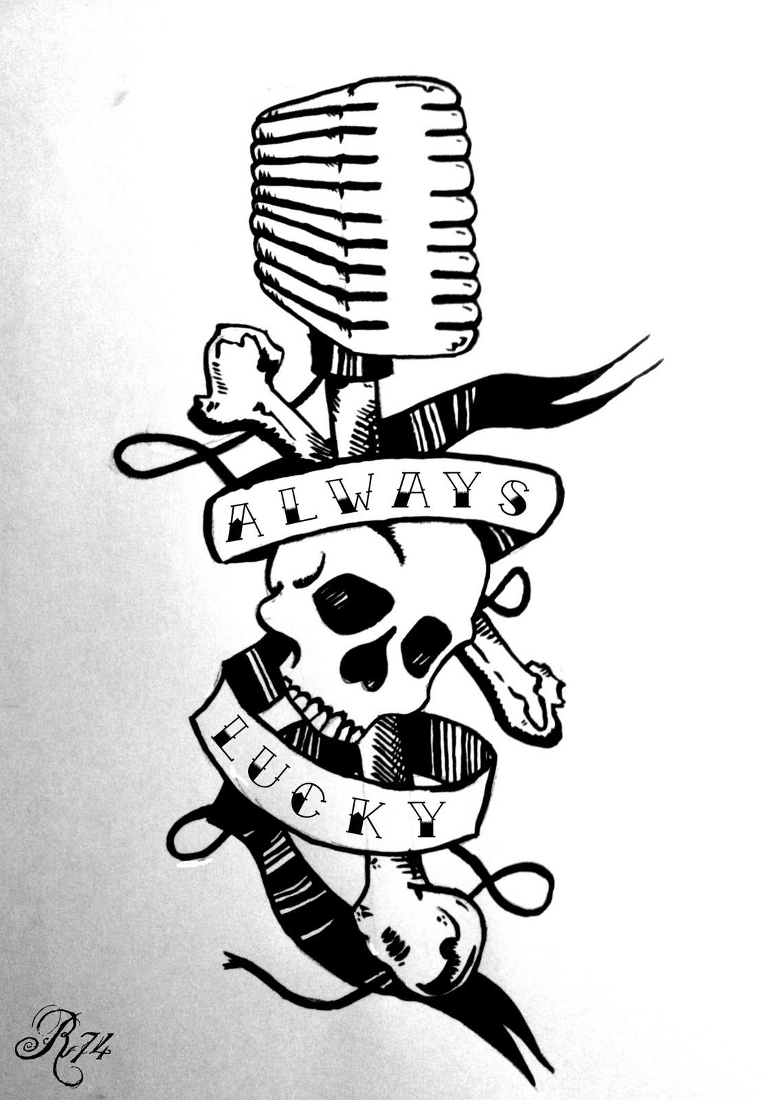 Old School - Micro et tête de mort