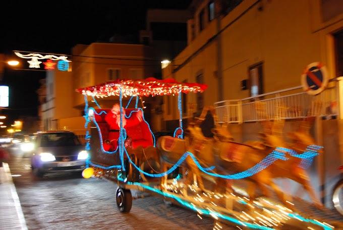 Papa Noel llega a Arucas