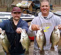 Lake Broken Bow crappie fishing report