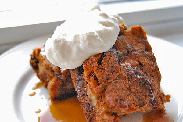 ... Easter Baking: Spiked Double Apple Cake With Brown Sugar-Brandy Sauce