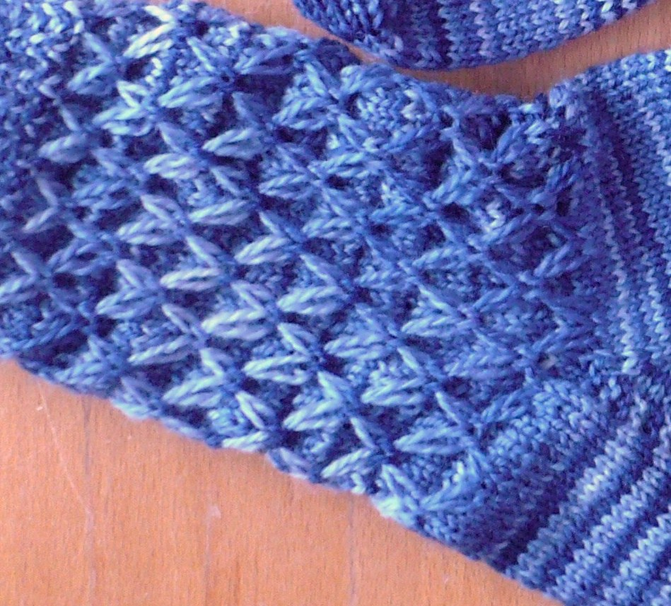 Knitting Quilted Lattice Stitch : Sock kal with cabin fever