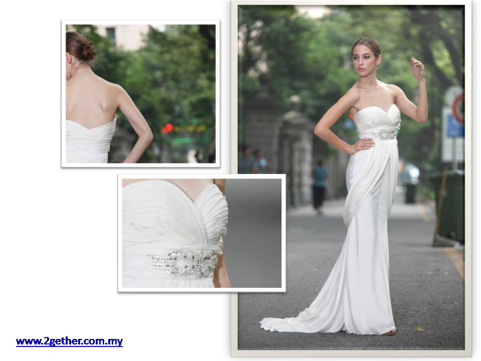 2-Gether: Wedding Gown for Rent (S~M Size)