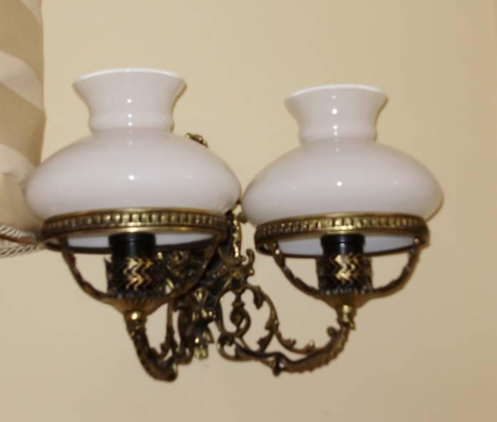 Articulos a la venta por poca plata 2 apliques de bronce con tulipa - Apliques de bronce para muebles ...