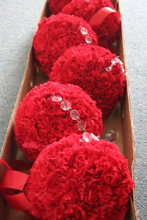 Carnation Pomanders, crystals, Isha Foss Events