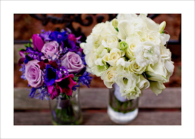 Purple flowers, wedding, anemone,lisianthus, Isha Foss Events