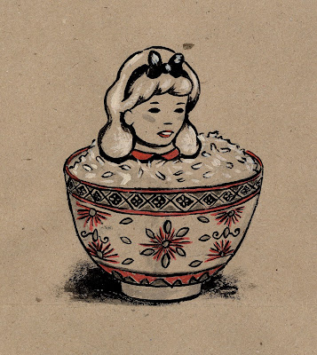 Ming Ong Alice Rice bowl girl painting
