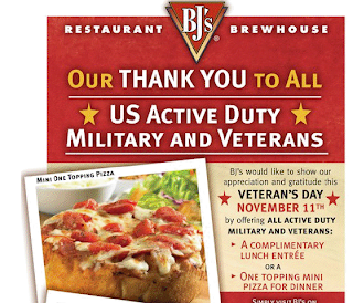 restaurant coupon for US Active Duty Military and Veterans
