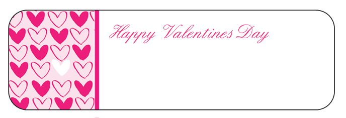 VistaPrint 140 Valentines Day Labels 3 Shipped and my frugal – Valentine Day Label