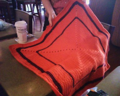 Haley's blanket she's crocheting for future donation.