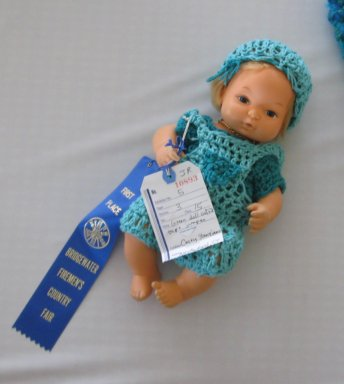 Mini~Dee takes home the Blue Ribbon from the Bridgewater Fair, Juniors Division, 2008