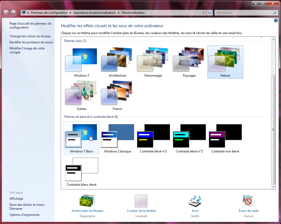 Windows cr er un th me personnalis avec windows 7 for Windows 7 bureau vide