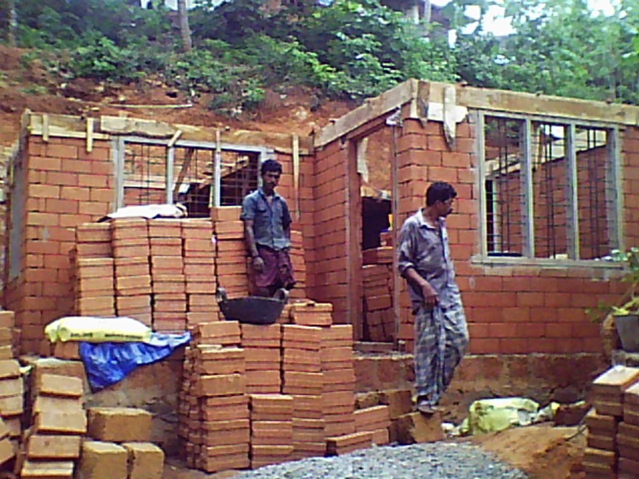 Interlocking Bricks for House Construction