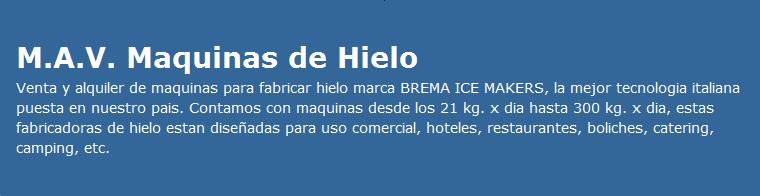 maquinas de hielo, venta y alquiler maquina de hielo, fabrica de hielo, hacer hielo, M.A.V.