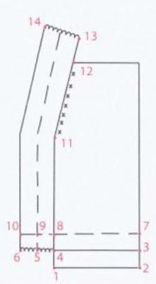 Цельновязаная планка с прямым уголком